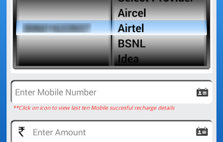 Recharge Mobile from SBI App