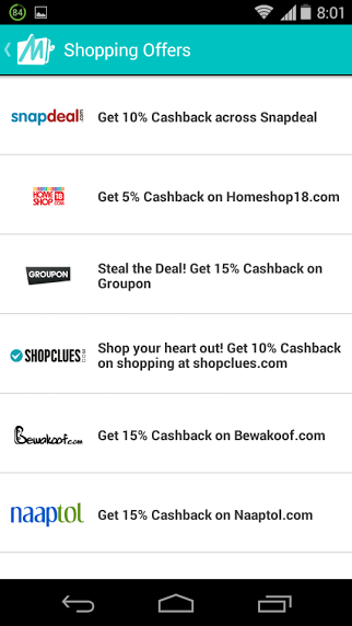 Mobikwik Online Shopping Offers