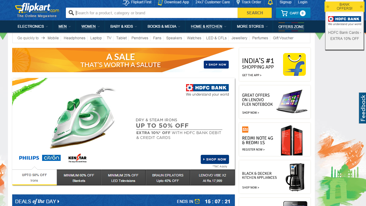 Desidime is India's largest online shopping community with more than five lakh members finding and sharing the latest online deals, coupons and offers with each other. Here, you will find the latest offers and shopping coupons from + stores including Amazon India, Flipkart, Snapdeal, eBay, Myntra, Paytm, Freecharge, Cleartrip, Pepperfry.