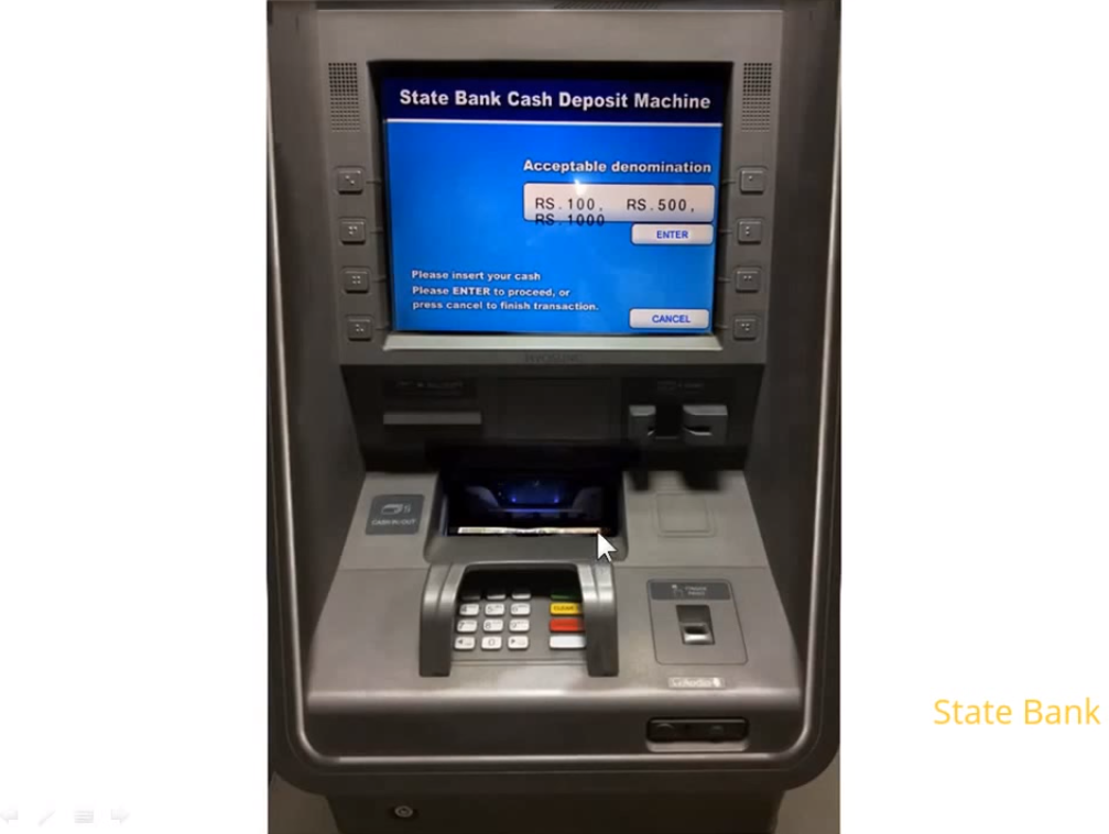 Cash Deposit Mahcine (CDM) - Deposit Cash